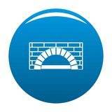 Brick oven icon vector blue. Brick oven icon. Simple illustration of brick oven vector icon for any design blue Royalty Free Stock Photography