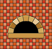Vector brick oven Stock Photos