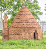 Brick oven. Old traditional brick oven in the garden Royalty Free Stock Photos