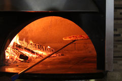 Brick Oven Pizza Royalty Free Stock Photography