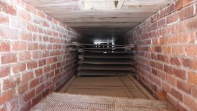 Brick Oven. Used in drying fish and shrimp in historical California fishing and shrimping community stock video