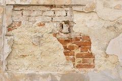 brick pękająca ściany Zdjęcie Royalty Free