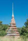 Brick pagoda. The beautiful old pagoda make from brick on sunshine day with the blue sky Royalty Free Stock Image