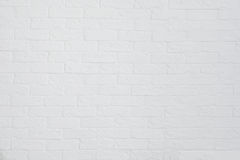 Brick painted white wall background Stock Image