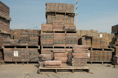Brick Pallets Royalty Free Stock Images