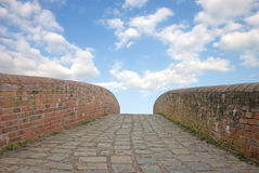 Brick Path Stock Photography