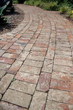 Brick path Royalty Free Stock Images