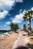 Brick Path Along Tropical Harbor Royalty Free Stock Image