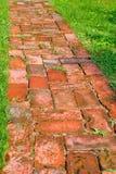 Brick path Stock Photo