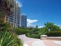 Brick path in Miami Beach Florida Stock Photography