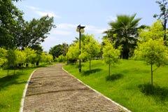 Brick path of tianzhu resorts hotel Stock Photo