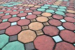 Brick pathway Stock Images