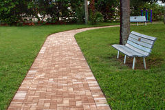 Brick pathway Royalty Free Stock Images