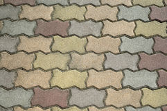 Brick patio Stock Images