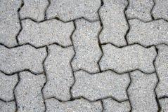 Brick patio. Gray patio brick layout - pattern Stock Image