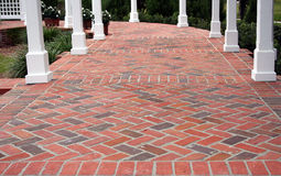 Brick patio Stock Image