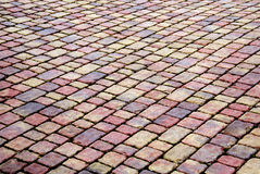 Brick patio Royalty Free Stock Photo