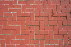 Brick Pattern. Paver bricks with an intresting interlocking pattern Stock Photo