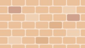 Realistic bricks pattern design, warm and clean style royalty free illustration