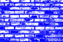 Brick pattern stick in the wall as a background texture with blue color effect Stock Images