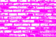 Brick pattern stick in the wall as a background texture with purple color effect Royalty Free Stock Photos