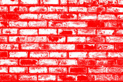 Brick pattern stick in the wall as a background texture with red color effect Stock Image