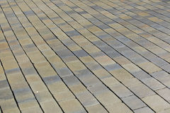 Brick paved walkway Royalty Free Stock Image