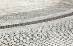 Brick pavement Royalty Free Stock Image