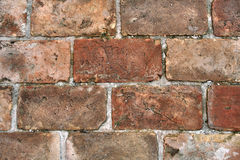 Brick pavement. In and old courtyard Royalty Free Stock Image