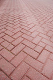 Brick pavement. Part of pavement made of brick royalty free stock photos