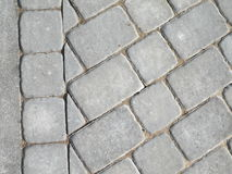 Brick pavement. White brick pavement for background Stock Images