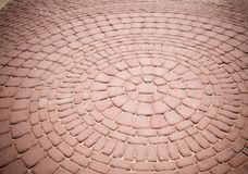 Brick Pavement Abstract Stock Image