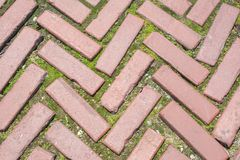 Brick pavement background pattern. Red brick background pattern abstract and texture Stock Photos