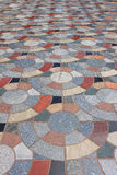 Brick pavement in a city Royalty Free Stock Photo