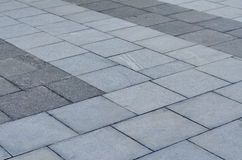 Brick pavement in the city Royalty Free Stock Photo