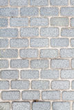 Brick pavement. Sorted gery rounded-edge brick walkway Royalty Free Stock Photography