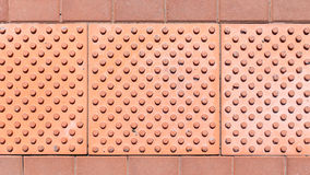 Brick pavement tile, top view. Texture as background. Royalty Free Stock Photography