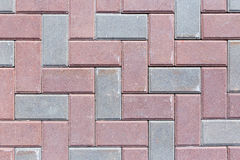 Brick pavement tile, top view. Texture as background. Stock Photo