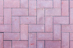 Brick pavement tile, top view. Texture as background. Royalty Free Stock Photo