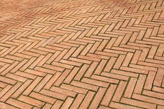 Brick pavement Royalty Free Stock Photos
