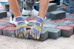 Brick paver Stock Photos