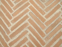 Brick pavers. A background of brick pavers in a v pattern Stock Images