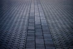 Brick pavers forming lines and patterns Stock Photography