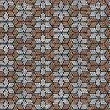 Brick Pavers Laid as Flowers. Seamless Texture. Brown-Gray Pavement Slabs Laid as Flowers. Seamless Tileable Texture Stock Image