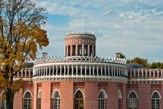 Brick pavilion in Tsaritsino park. Moscow. Russia Stock Image