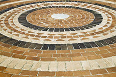 Brick paving with circular pattern Royalty Free Stock Image