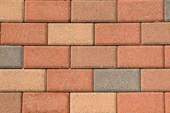 Brick paving stones on a sidewalk Stock Photos
