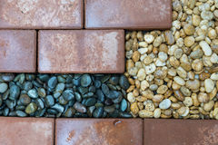 Brick and Pebble Royalty Free Stock Photos
