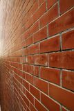 Brick perspective Royalty Free Stock Photos