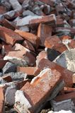 Brick pile Royalty Free Stock Images